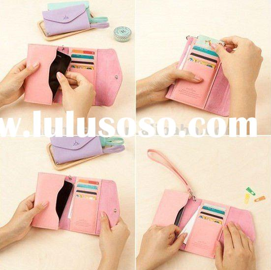 Wallet Leather Case Credit Card Holder Flip Cover Pouch For iPhone 4 4S 4G