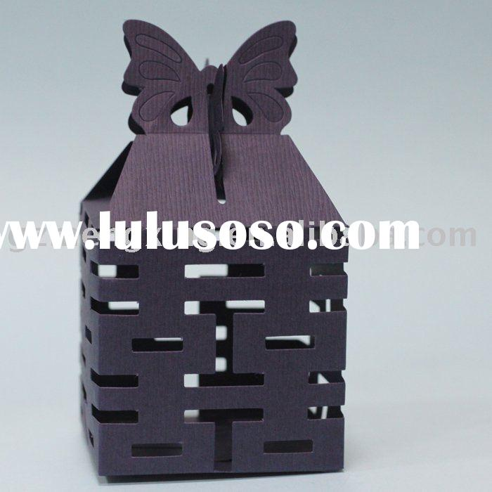 Wedding Candy Boxes in Dark Purple--------WB018