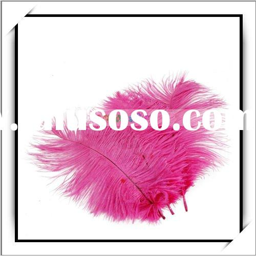 Wholesale! 10pcs Rose Red Ostrich Feather For Wedding Decor