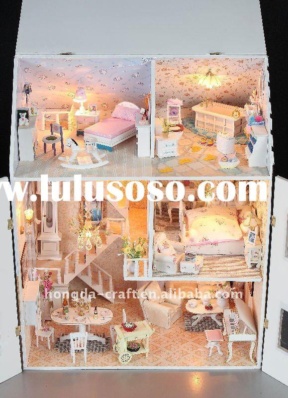 Wholesale-Hot!Gift house Miniature wooden dollhouse DIY model dollhouse Holiday gift#Dream House
