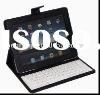 "Wireless Bluetooth Keyboard with Folding Leather Case for 10"" tablet pc - Black"