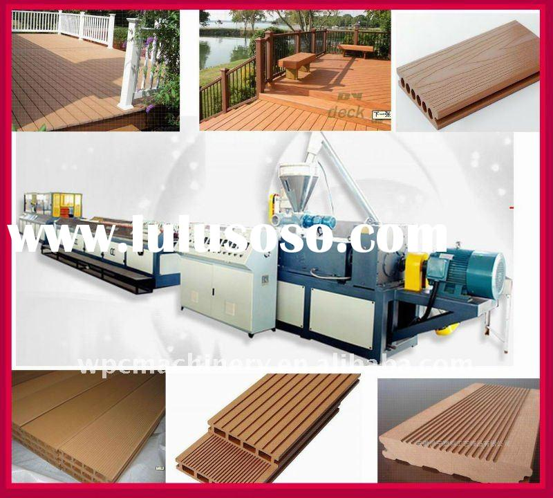 Wood Plastic Composite Machine (decking,floor,profile by waste plastic and wood)