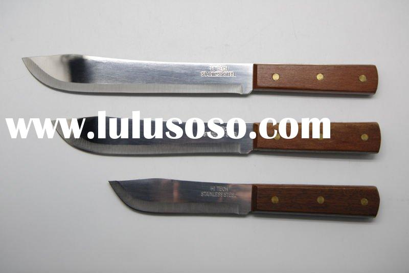 Wooden Handle Stainless Steel Butcher's Knife/Kitchen Tool