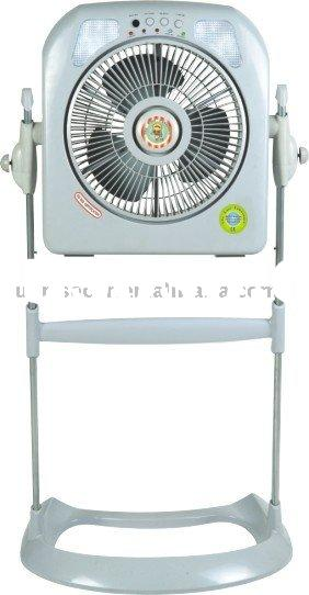 XTC-1226A Plastic Stand Pedestal rechargeable fan with light