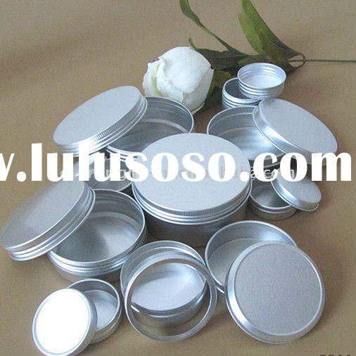 Printing Aluminum Containers Canister Jar With Screw On