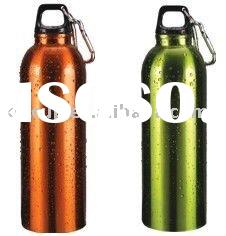 aluminum water sports bottle with a carabiner