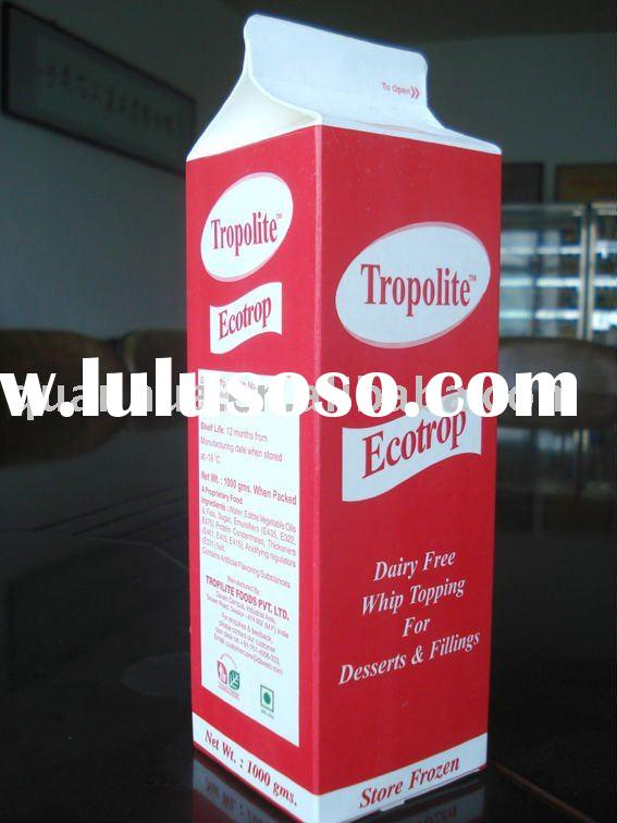 aseptic milk packing box