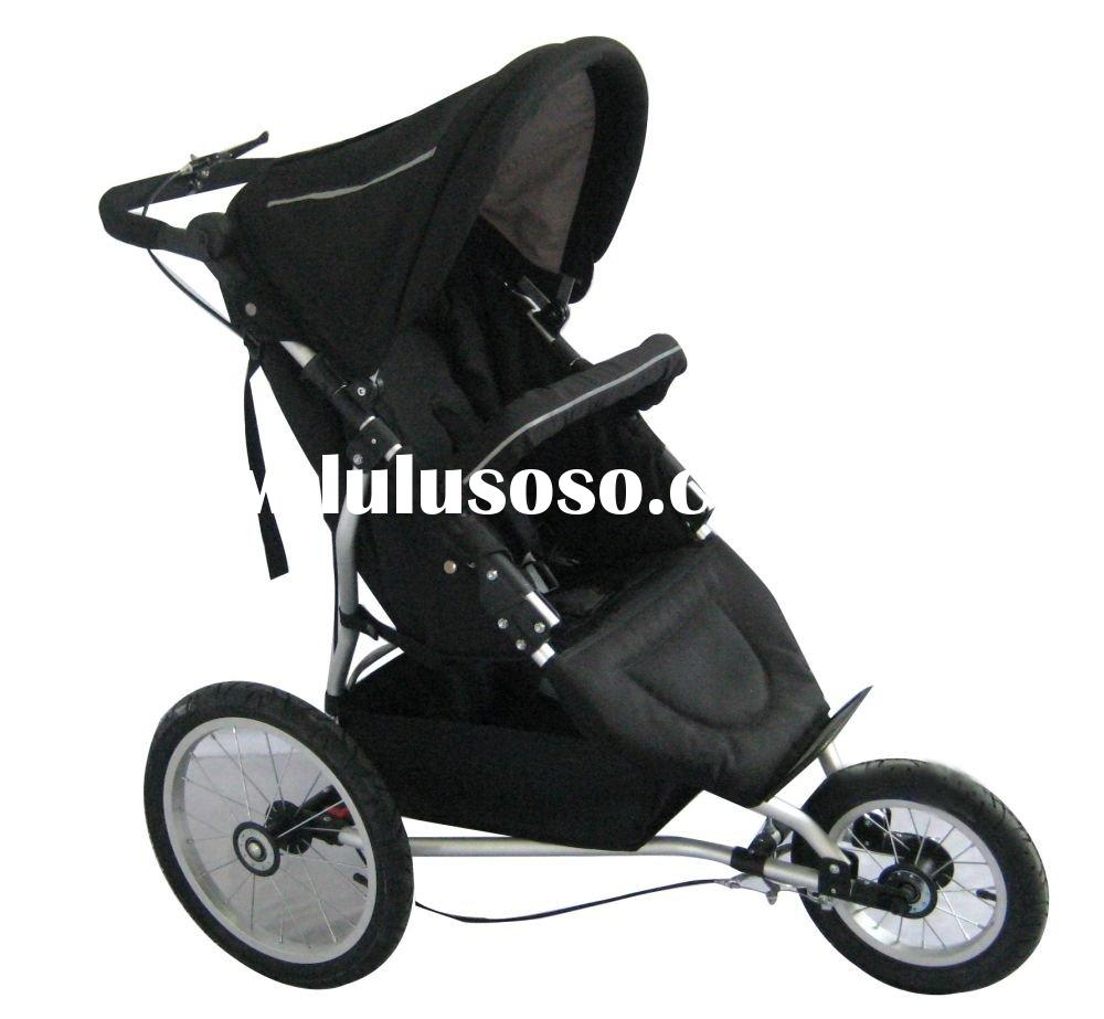 baby jogger jogging stroller 3 wheel aluminum frame inflatable air wheel
