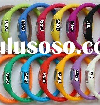 bright colors waterproof silicone watch