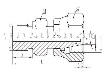 carbon steel metric hydraulic pipe/hose/tube adapter