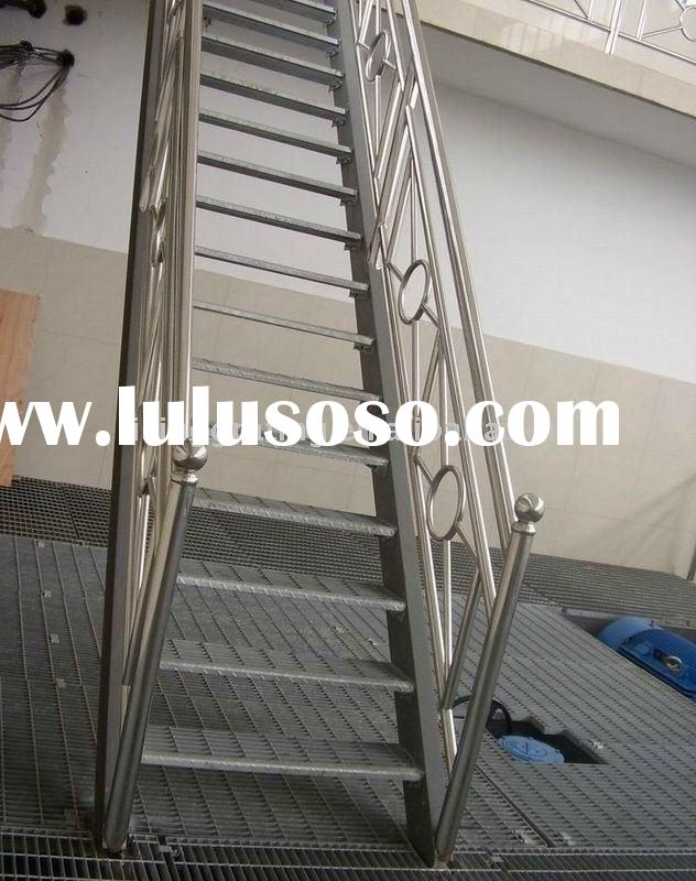 carbon steel pipe stair handrail,steel balustrade, stair railing ,steel railing