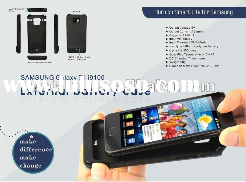 case for samsung galaxy s2 high capacity internal battery /power pack for samsung9100 2200mah batter