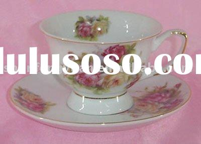 ceramic tea cup and saucer