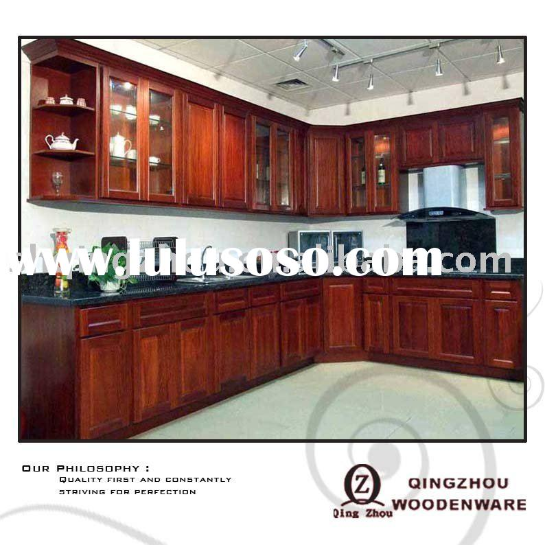 Solid cherry kitchen cabinet for sale price china for Cherry wood kitchen cabinets price