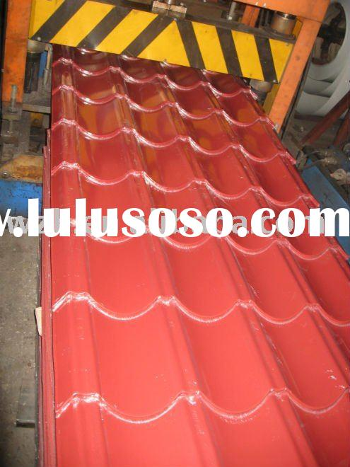 coloured galvanized steel roofing sheets YX25-207-828