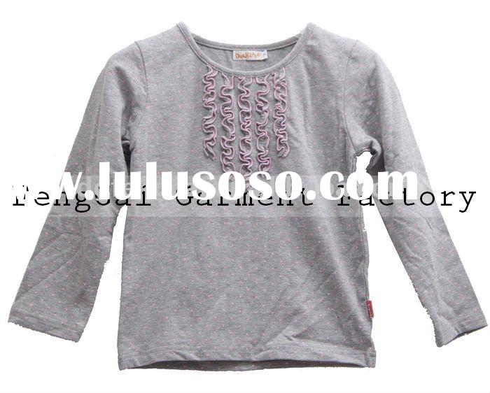 comfortable cotton long sleeve kid clothing for autumn