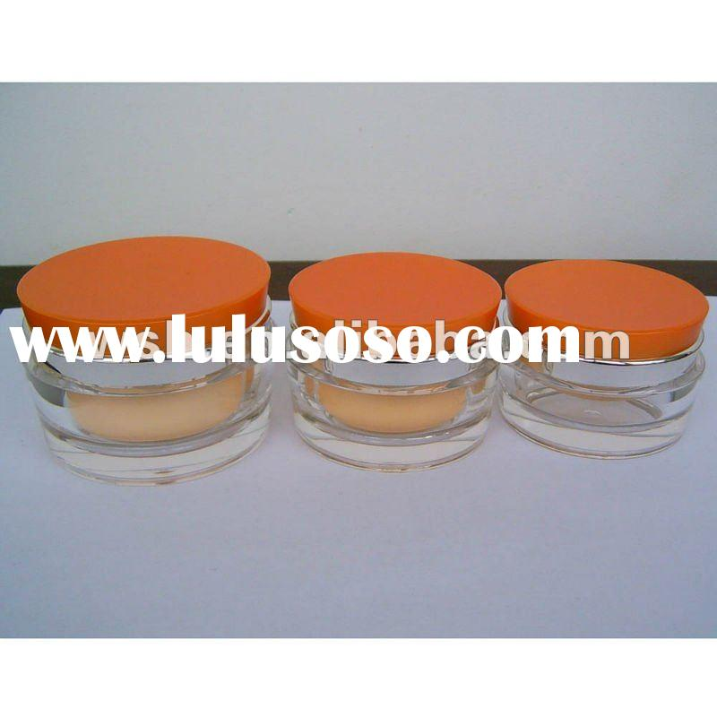 cosmetic packaging Fastigiate Acrylic Cream Jar and Lotion Bottle