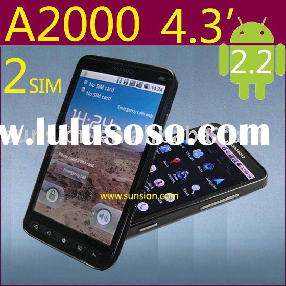 dual sim card mobile phone with wifi, gps and 4.3 touch screen