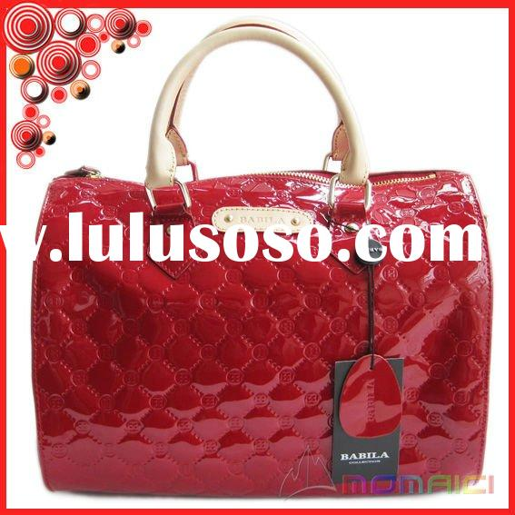 embossing japanned leather brand name designer handbags