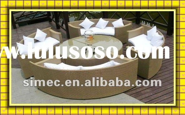 factory sale cheap price good quality rattan furniture outdoor sofa SCSF-046