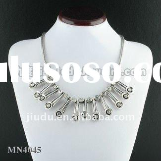 fashion cup chain necklace set with crystal
