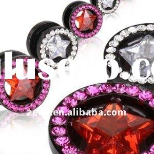 fashion design body piercing plug jewelry ear tunnel