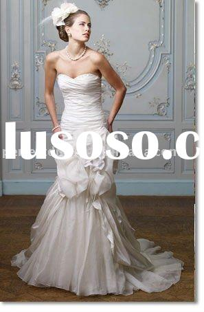 floor length champagne lace casual wedding dress