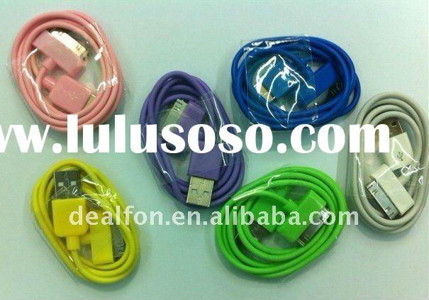 for iphone ipad ipod colorful usb date cable/ for iPhone 4G 4S 3G 3GS MP3 MP4 cable USB charger