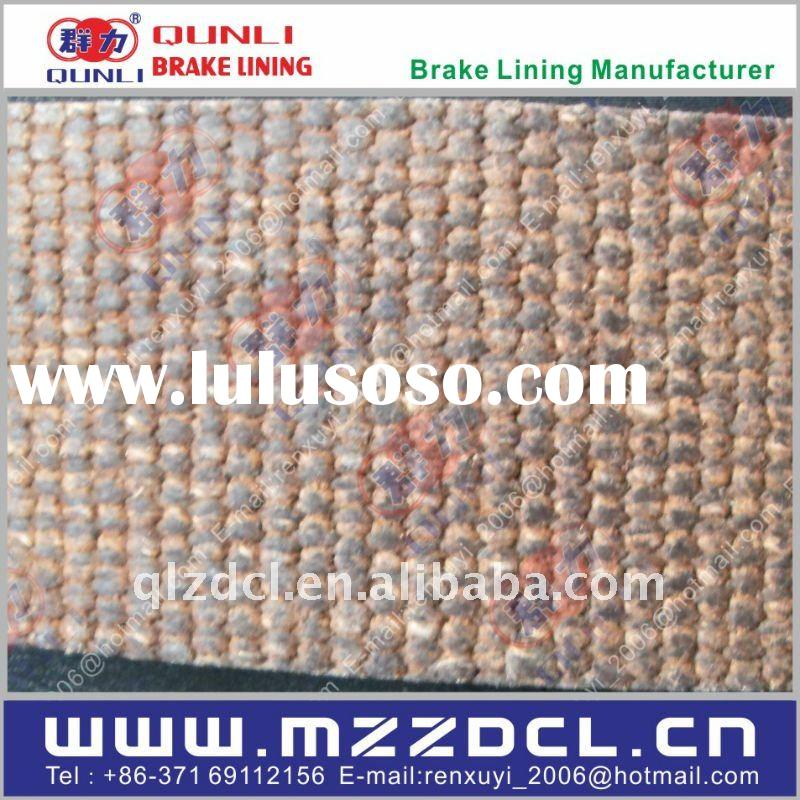 hoist asbestos woven resin brake lining