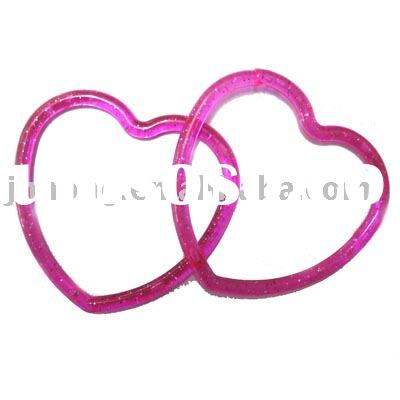 hot pink Heart Shaped Plastic Bracelet/jewelry