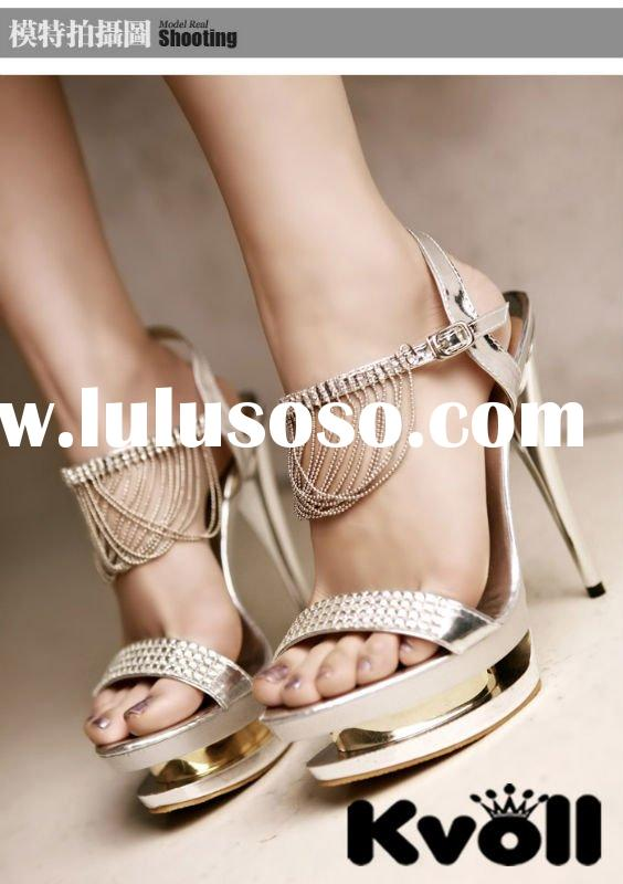 hot selling 2011 latest summer fashion girl high heel sandals