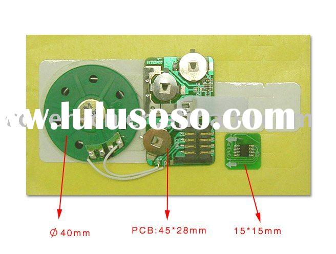 hottest slide switch recordable voice chip for greeting card