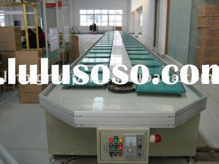 industrial production line stainless steel rubber belt conveyor system