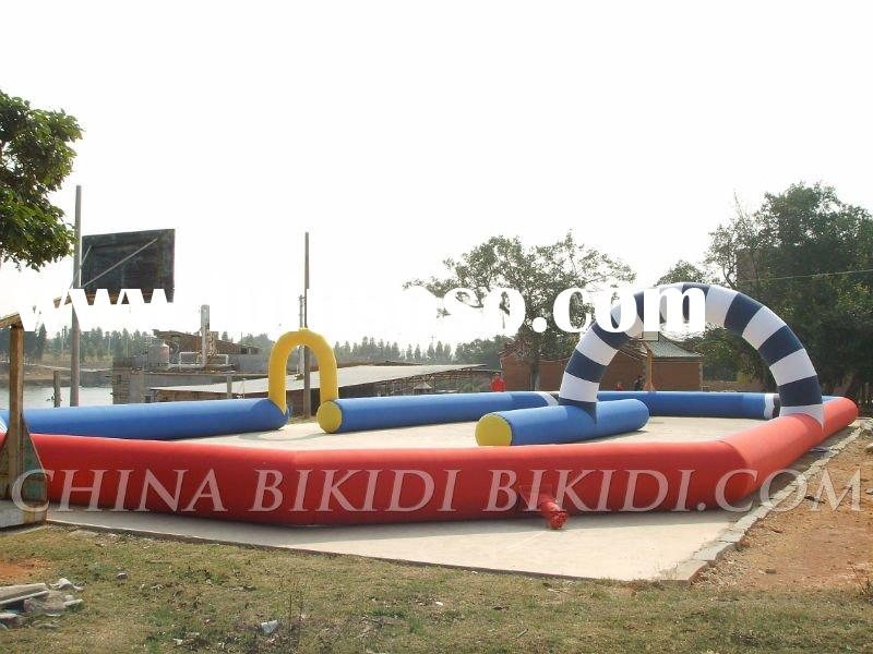 inflatable race track for Go Kart games