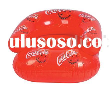 inflatable sofa Chair,with Coca Cola flower printing,ideal for promotion gifts and advertising premi