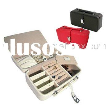 leather travel jewelry case/jewellery roll case