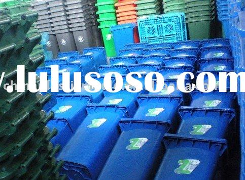 logo solution for wheelie bin: screen printing, sticker, embeded word in mould, hot stamping