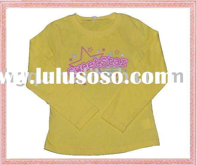 long sleeve yellow shirts for children