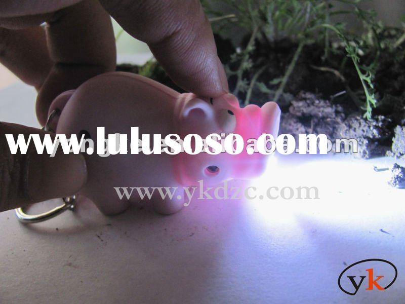 lovely pig keychain with light and sound