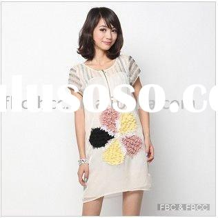new arrival 2012 fashion white lady summer dress(887)