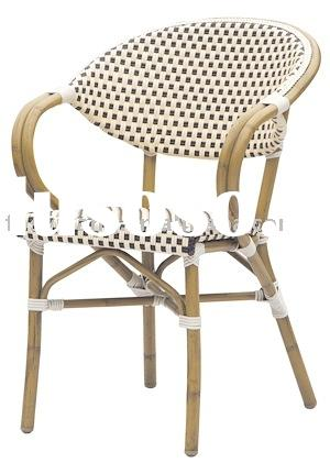outdoor wicker chair/rattan furniture/bamboo look chair/dining chair/PE rattan chair/dining chair