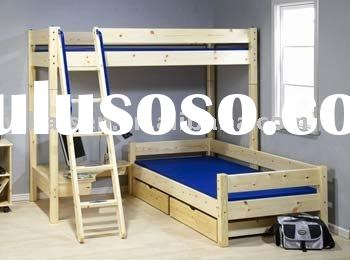 pine bunk bed kid furniture wooden solid wood furniture home bedroom furniture children furniture