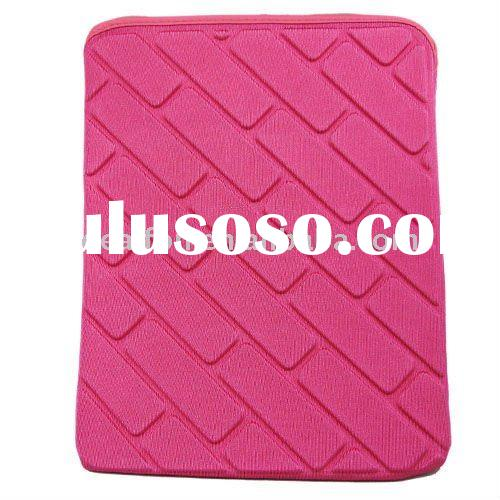 pink Sleeve Neoprene Case Pouch for Apple iPad iPad 2 tablet PC leather case