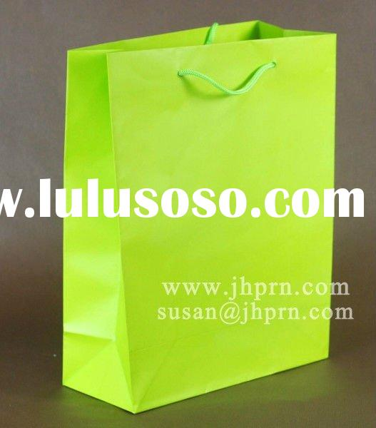plain green packing paper bag in closeout