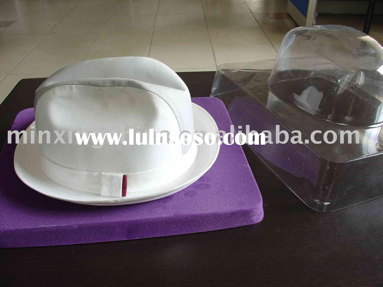 plastic clear hat packaging box