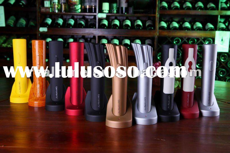 plastic cordless electric rechargeable wine bottle opener
