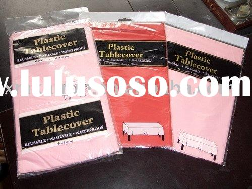 plastic table cover, plastic table cloth