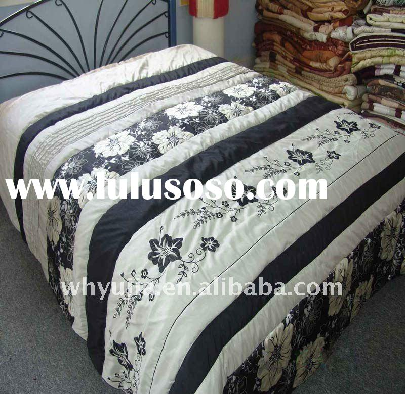 polyester Jacquard comforter bedding set with patchwork