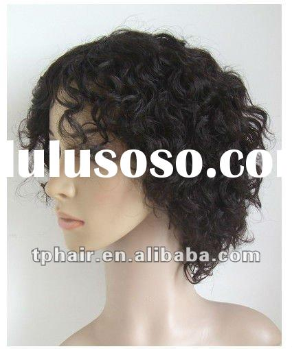 """providing 6"""" kanekalon full lace French Curl wig/short hair style wig for fashion women"""