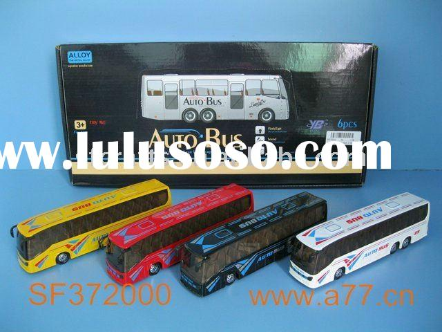 pull back alloy bus toy